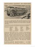 Leyland Lion Motor Bus Giclee Print