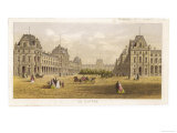 Exterior View of the Palace of the Louvre Before the Siege and the Commune During Giclee Print