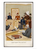 Arrested Suffragette in the Dock: I Protest Against Man- Made Laws! Premium Giclee Print