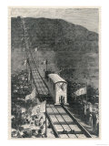 The Opening of the Funicular on Vesuvius is Celebrated by Large Crowds Giclee Print