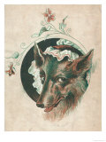 The Wicked Wolf Wearing Red Riding Hood's Grandmother's Nightcap: a Rather Unconvincing Disguise! Giclee Print
