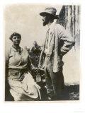 D H Lawrence English Novelist with His German Wife Frieda Giclee Print