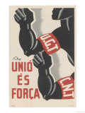 The Ugt and Cnt Unite, for Unity is Strength Giclee Print