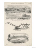 Comparison of Two Separate Methods of Ploughing Using a Steam Engine Giclee Print