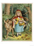 Little Red Riding Hood Forgets Her Mother's Advice and Talks to a Stranger -- the Wolf! Giclee Print