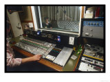 Sound Engineer Gets the Balance Right at John Wood Studios London Giclee Print