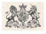 The Royal Coat of Arms of Queen Victoria Premium Giclee Print