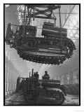 Winching a Tank with an Overhead Crane at a Factory in St. Petersburg Giclee Print