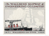 Brochure for the Wallsend Slipway and Engineering Company Northumberland Giclee Print