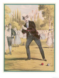 Redoubtable Croquet-Player Ponders a Tricky Shot Giclee Print