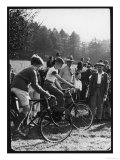 Cycling Race at Hascombe Fair Surrey England Giclee Print