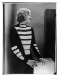 Unusual Hand-Knitted Pullover Modelled Giclee Print