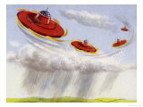 Flying Saucers Used to Precipitate Rainfall Giclee Print