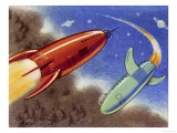Rockets for Space Travel Giclee Print