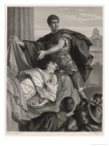 Julius Caesar, Mark Antony's Funeral Oration Over the Corpse of Caesar Premium Giclee Print by Heinrich Spiess
