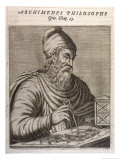 Archimedes Greek Mathematician and Inventor Giclee Print by Andre Thevet