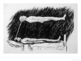 The Out-Of-Body Experience Figure 2 of 5 the Astral Body Lying in the Air Above the Physical Body Giclee Print by H.g. Watts