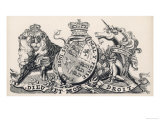 The Royal Coat of Arms of Britain During Victoria's Reign Giclee Print