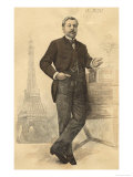 Gustave Eiffel French Engineer Giclee Print
