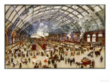 Going North for the Holidays from St. Pancras Station Midland Railway Reproduction procédé giclée