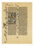 Illuminated Manuscript Known as the Wenzelbibel Giclee Print