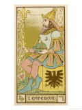 Tarot: 4 L'Empereur, The Emperor Giclee Print by Oswald Wirth