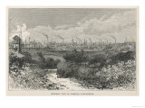 Factory Chimneys Outnumber Church Spires on the Skyline at Preston Lancashire Giclee Print