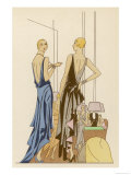 Two in Evening Dresses Giclee Print
