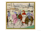 The Canterbury Pilgrims on the Road Giclee Print