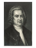 Johann Sebastian Bach German Organist and Composer Reproduction procédé giclée