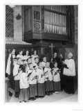 Church Choir of Boys and Girls Singing Joyfully Giclee Print