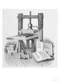 Gutenberg&#39;s Press Giclee Print