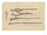 Matchlock Crossbow (From Bosworth) Mameluke Gun Persian Matchlock and Highland Pistol Giclee Print