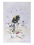 Performing Dog Collects Presents Thrown into the Circus Ring Giclee Print by A. Vitmar
