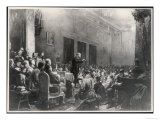 Vladimir Lenin Russian Statesman Stands up to Address a Large Meeting Giclee Print