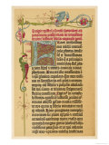 Page from His First Bible of 42 Pages Gicle-tryk