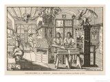 Flat-Bed Press and Other Equipment of a German Printer's Workplace Giclee Print by Abraham Von Werdt