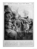 French Soldiers Using Gas Masks During Combat Near Combles Giclee Print