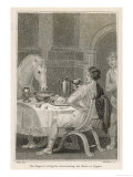 Gaius Caesar Caligula Fed His Horse Swift at His Table from Golden Tableware Premium Giclee Print