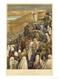 Jesus Preaches the Sermon on the Mount Giclée-tryk af James Tissot