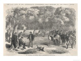 The Last Days of the Confederacy: Jefferson Davis Signs Acts of Government by the Roadside Giclee Print
