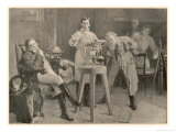 Josef Von Fraunhofer Demonstrates His Spectrometer at Munchen 1814 Giclee Print by R. Wimmer