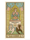 Tarot: 7 Le Chariot Giclee Print by Oswald Wirth