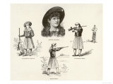 Annie Oakley Entertains with Feats of Skillful Marksmanship Giclee Print