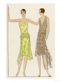Two Pretty Dresses Made of the Tulle Supplied by Racine of Paris Giclee Print