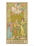 Tarot: 6 L'Amoureux, The Lover Giclee Print by Oswald Wirth
