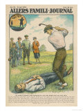 Golfer Bob Morrison Emulates William Tell Giclee Print