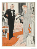 Jeeves Gives Notice When Bertie Wooster His Employer Insists on Playing the Banjolele Giclee Print by Gilbert Wilkinson