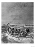 Group of Lifeboats Showing the Scenes Immediately after the Sinking Giclee Print