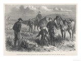 U.S. Cavalry Scouts Find the Skeletons of Soldiers Giclee Print